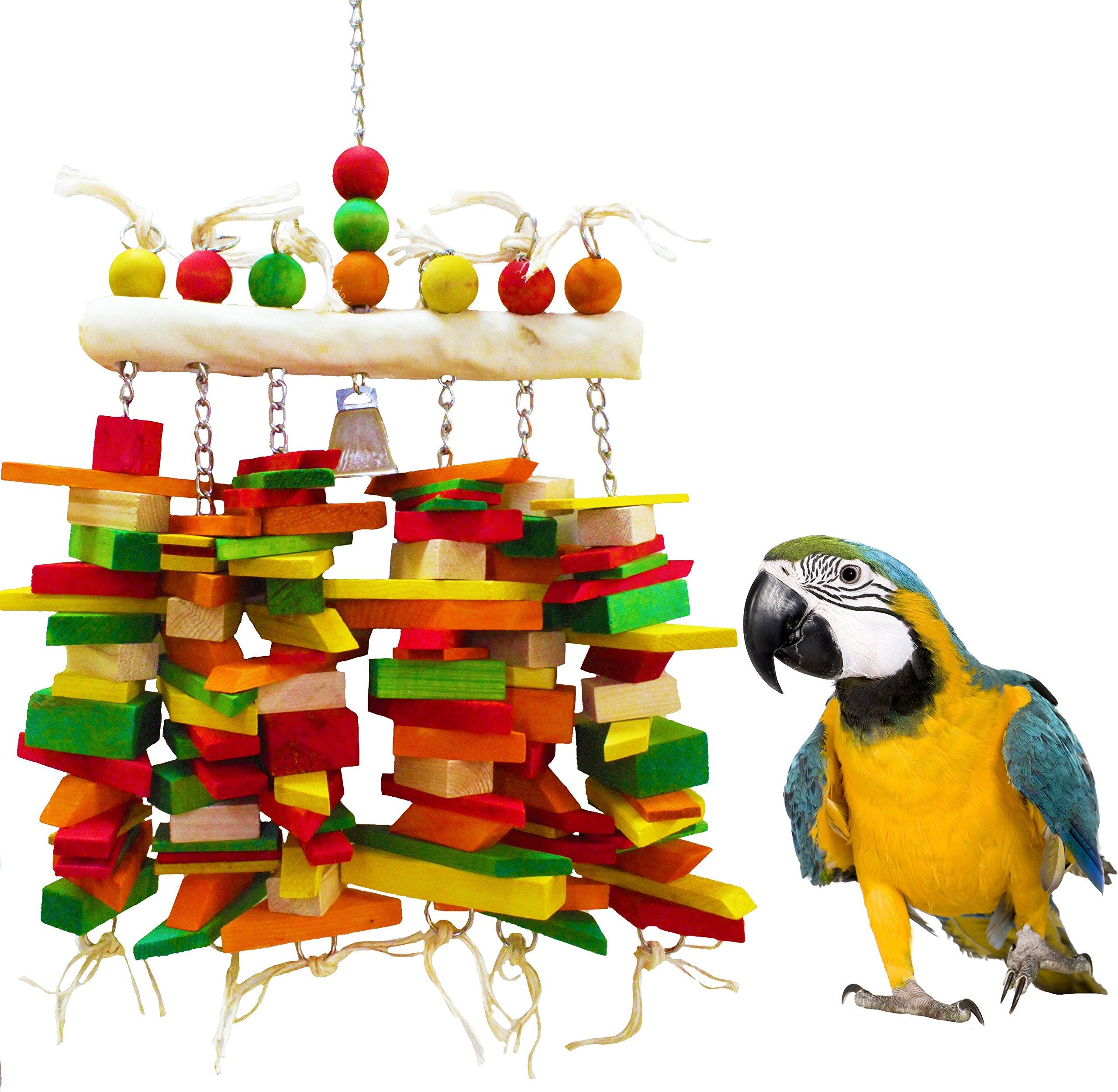 1381 Huge Bone Bridge Bird Toy parrot toys cages african grey macaw cockatoo