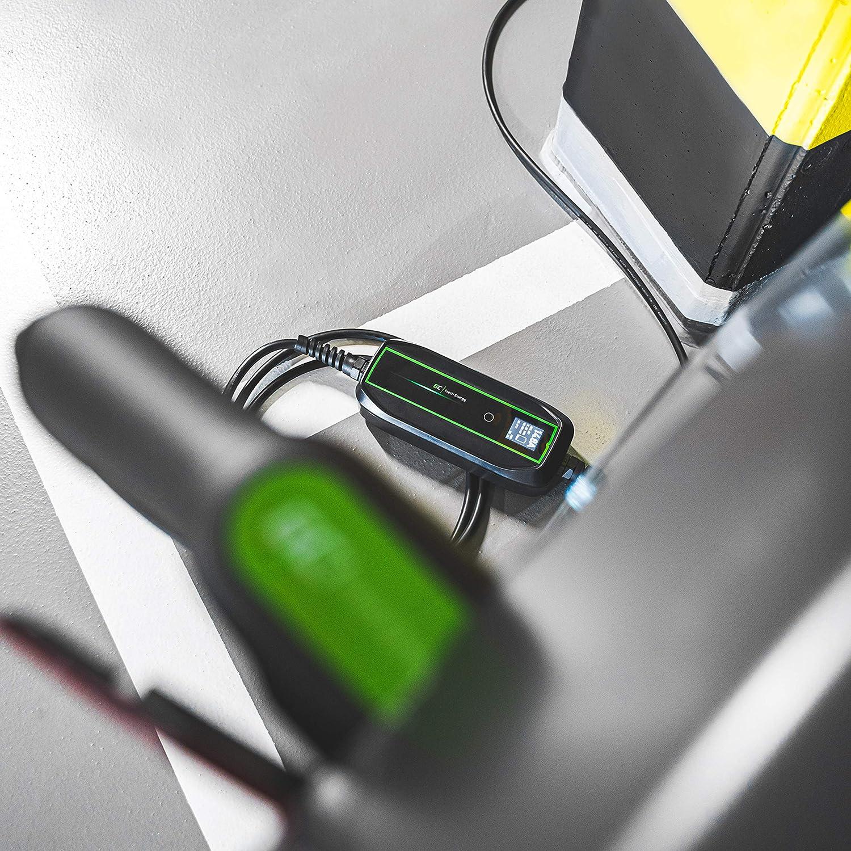 Laden mit 22kW // 11kW // 7,2kW Leaf IP66 LCD Bildschrim I-Pace ZOE ID.3 Steckdose Typ 2 Green Cell/® GC EV PowerBox Ladeger/ät Wallbox f/ür EV PHEV i3 Kompatibel mit Tesla Model 3 // S//X