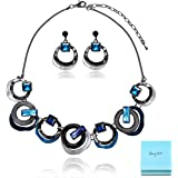 Amazon Price History for:AMYJANE Statement Necklace Set for Women - Fashion Costume Cirlce Chunky Jewelry Set Crystal Rhinestone Geometry Necklace Earrings Set Choker Collar for Party Prom Unique Gift for Women