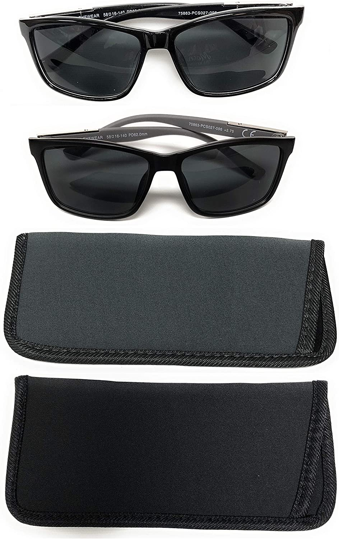 Classic Unisex Sunglass Readers Invisible Bifocal Men Women with Eyewear Cases +1.25 - +2.75