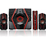 AVerMedia Ballista Trinity Gaming PC Speakers, 2.1 Sound System Speakers, 77 Watts, 3 Way Satellite Speakers (GS315)