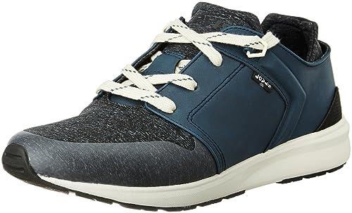 beffc26ee28247 Levi s Men s Black Runner Tab Dark Blue Leather Sneakers -10 UK India (44