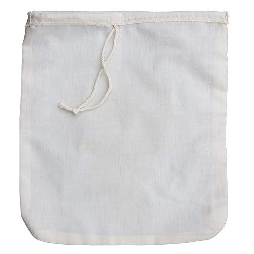 Compra Filtro de algodón orgánico para zumos y batidos, para leche de almendras, reutilizable, incluye un E book de recetas gratuito 12