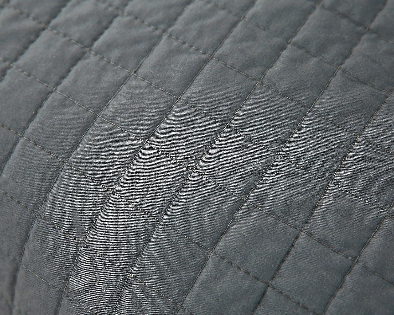 HOLISTAR Couvre lit 170x210cm Couverture de lit matelass/é literie Qualit/é Gris Fonc/é