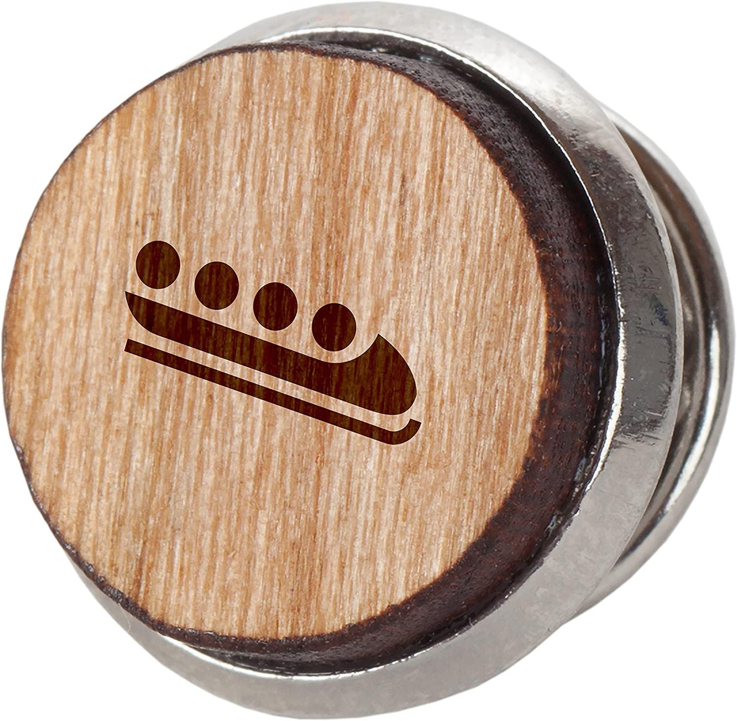 Bobsled Stylish Cherry Wood Tie Tack 12Mm Simple Tie Clip with Laser Engraved Design Engraved Tie Tack Gift