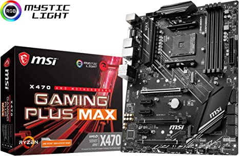 X470 GAMING PLUS MAX - Placa base (4 PCI-E Gen3 , Audio boost ...