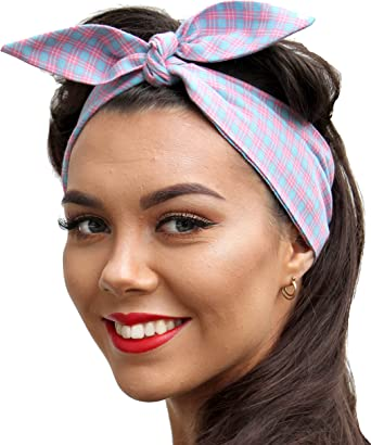 Head SCARF Headband NECK ROCKABILLY TIE PIN UP Vintage 50 s Style 2 in 1