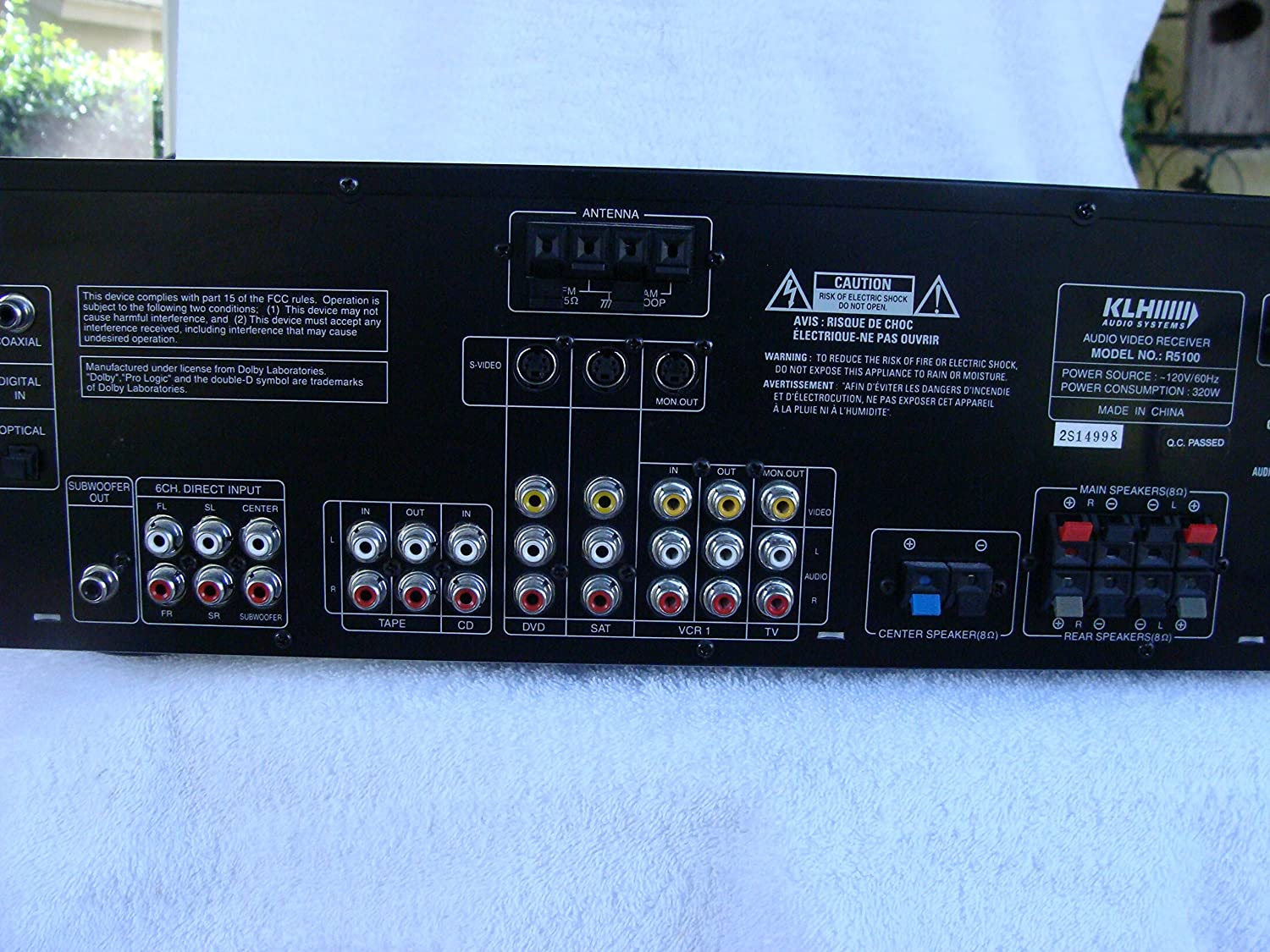 Amazon.com: KLH R5100 Surround Sound Receiver w/ Manual, Remote & Cable: Electronics
