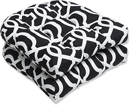 Pillow Perfect Outdoor/Indoor New Geo Tufted Seat Cushions Round Back