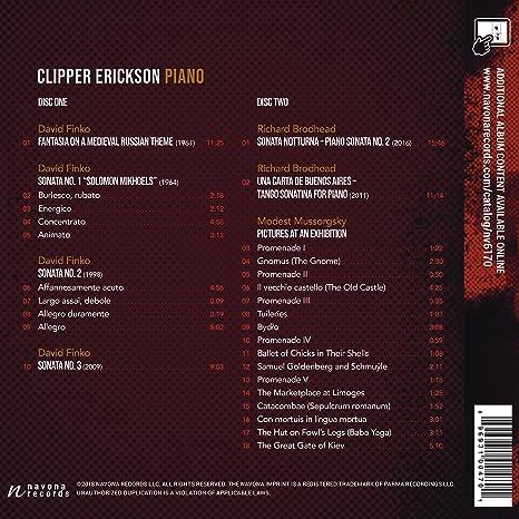 Tableau Tempest & Tango: Mussorgsky / Erickson: Amazon.es ...