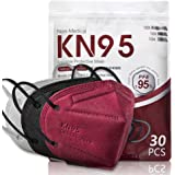 30 Pack KN95 Disposable Face Mask, 5-Ply Protection Breathable Cup Dust Masks, Protection Against PM2.5 Dust. Pollen. Haze-Pr