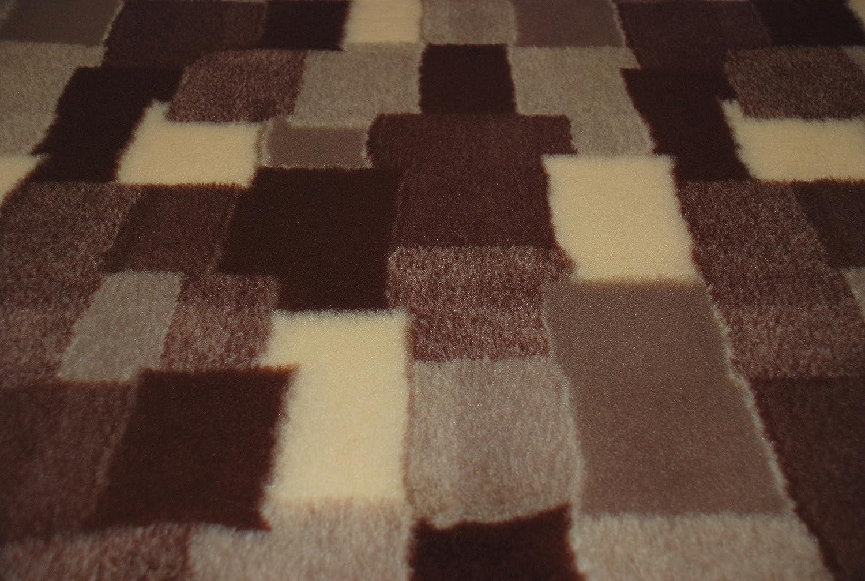 10 mtrs 1000cm x 150cm CRS Fur Fabrics Professional NON SLIP Veterinary Dog Puppy Vet Bedding PATCHWORK BROWN