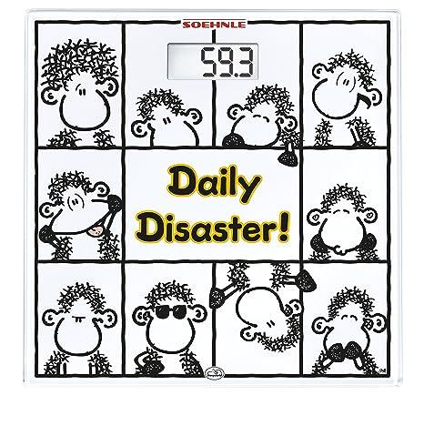 Soehnle 63834 - Báscula de baño, digital, diseño Sheepworld daily disaster