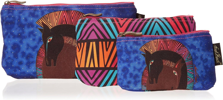 Laurel Burch Cosmetic Bag, Embracing Horses, Set of 3