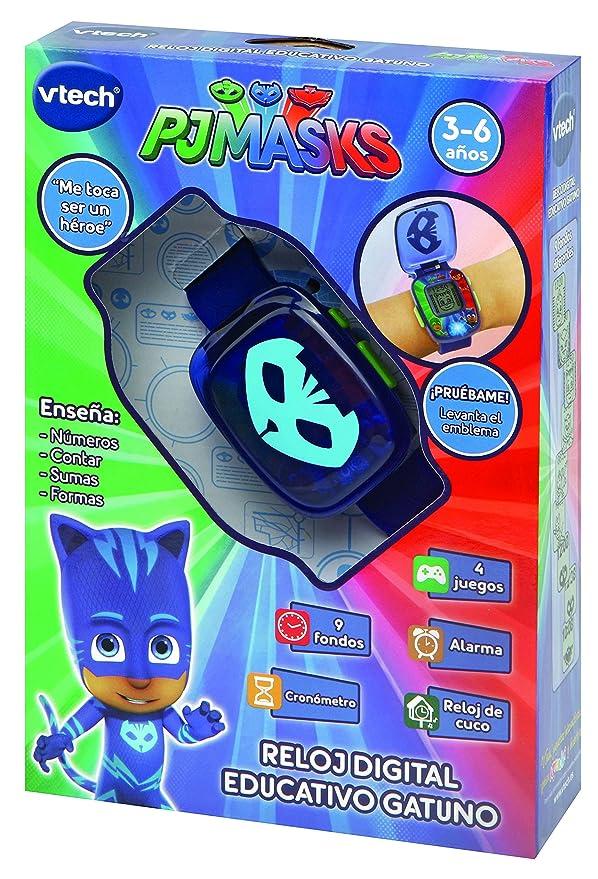 VTech PJ Masks Gatuno, Reloj Digital Educativo Que estimula el Aprendizaje e incorpora minijuegos y Actividades Color Azul 3480-175822: Amazon.es: Juguetes ...
