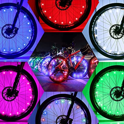 DAWAY Led Bike Wheel Light - A01 Waterproof Bright Bicycle Tire Lights  Strip, Safety Spoke Lights, Cool Kids Boys Girls Bycicle Accessories, Light  Up