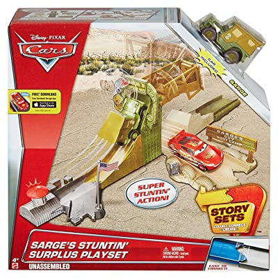 Disney Pixar Cars Sarge's Stuntin' Surplus Playset: Toys & Games