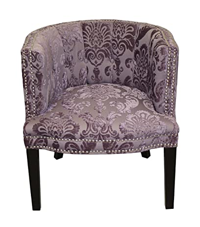 Charmant HD Couture Bohemian Fan Damask Chair, Black Plum