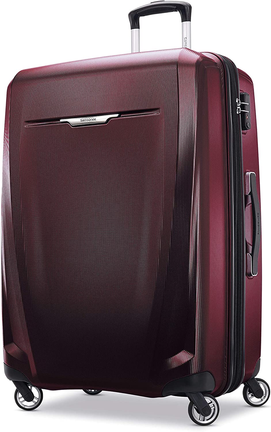 Samsonite Winfield 3 DLX Hardside Expandable Luggage with Spinners Black