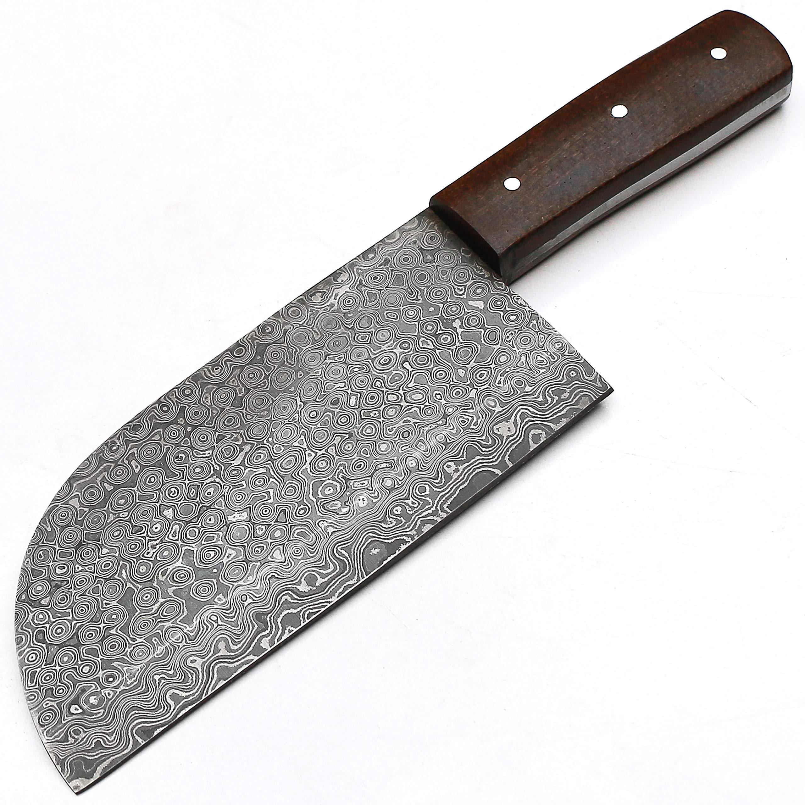 Full Tang Custom Handmade Damascus Steel Hunting Chef Cleaver Knife -Sword/Chef Kitchen Knife/Dagger/Skinner/Axe/Billet/Bar/Folding Knife/Kukri/knives accessories/survival/Camping With Sheath 8666