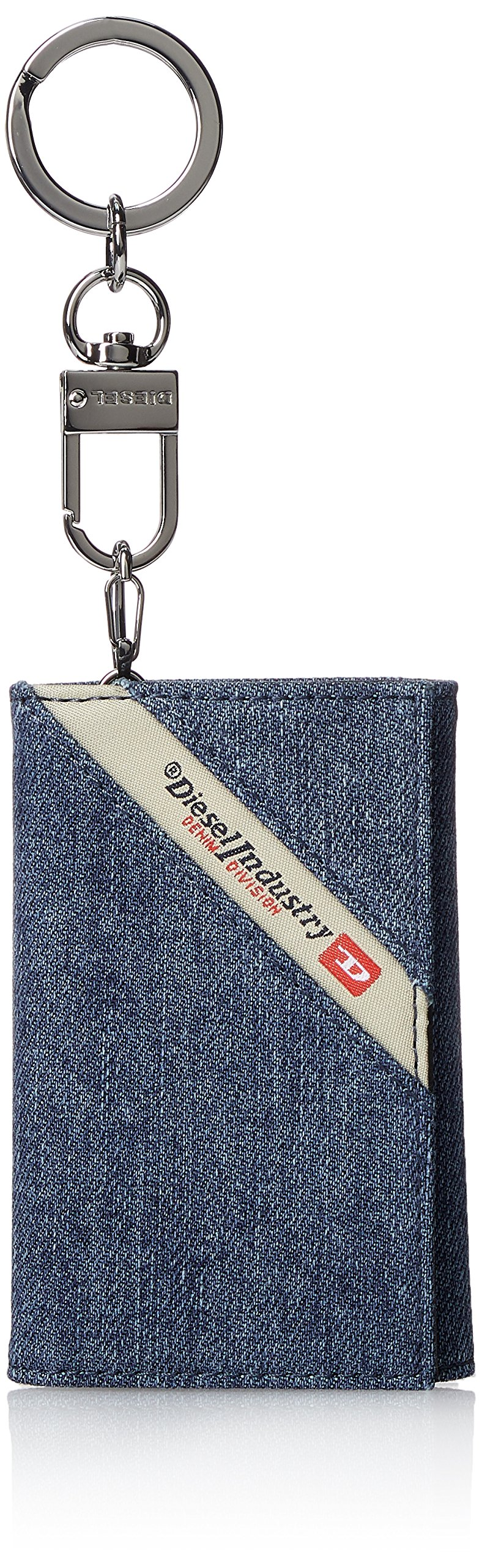 Diesel Men's DENIMLINE KEYCASE O-Key Holder, black/blue denim One Size