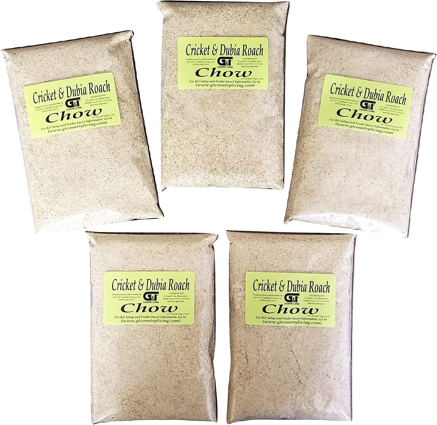 Cricket and Dubia Roach Chow (5 Lbs) - Premium Chow to Raise Your Feeder Crickets and Dubia Roaches