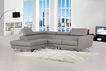 container furniture direct delia collection modern 2 piece bonded leather lshaped left facing sectional - Modern Leather Sectional