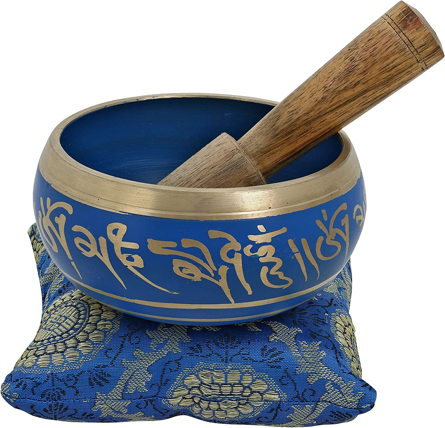 4 Inches seits Painted Metal Tibetan Buddhist Singing Bowl Musical Instrument für Meditation mit Stick und Cushion