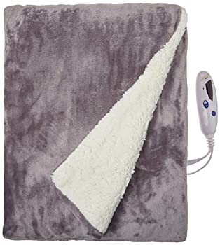 Biddeford Velour Throw Electric Blanket
