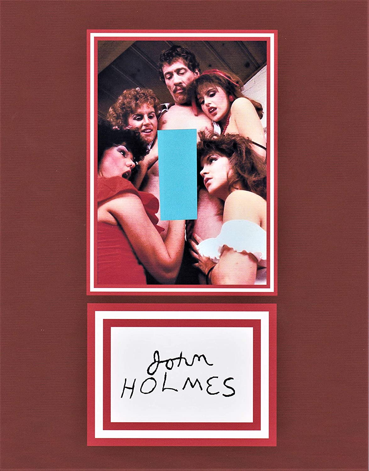 JOHN HOLMES, NUDE ERECTION 8 X 10 AUTOGRAPH ON GLOSSY PHOTO PAPER