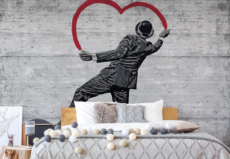 Banksy Graffiti Concrete Wall Photo Wallpaper Wall Mural