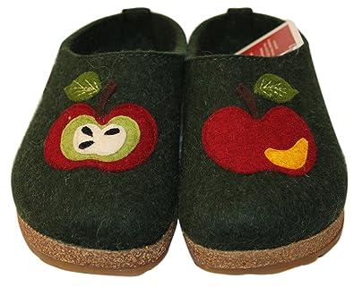 Pantofole HAFLINGER GRIZLY Mela 731063035 in feltro lana 39 CWK4iK4p
