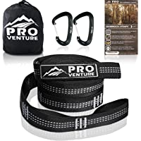 Pro Hammock Tree Straps with CARABINERS – 400LB Rated (1200LB Tested), Adjustable 30+2 Loops, Non-Stretch, Easy Setup…