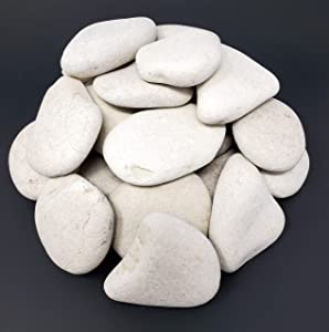 Capcouriers Landscaping Rocks (White) - Landscaping Rocks for Garden and Landscape Design - 9 Pounds (About 45-50 Rocks)