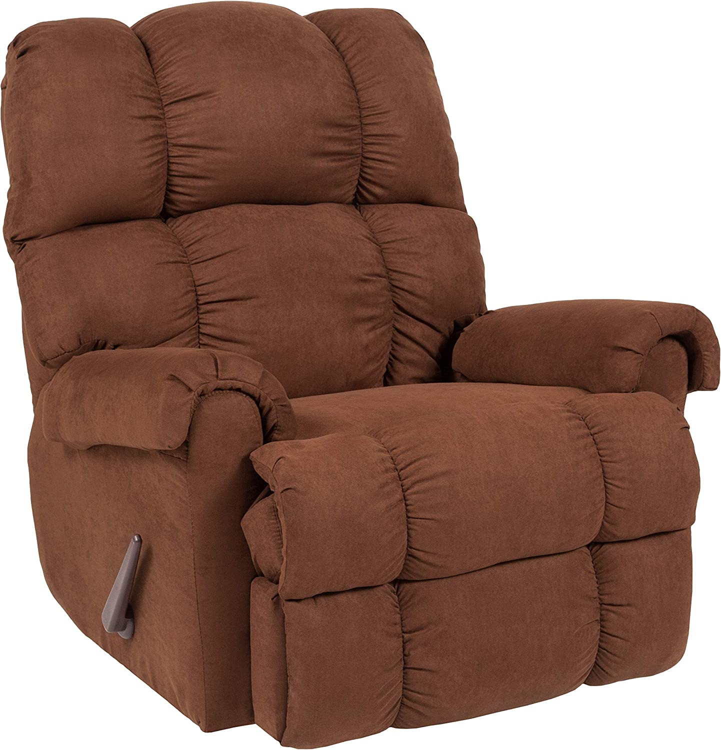 Flash Furniture Sierra Chocolate Microfiber Rocker Recliner