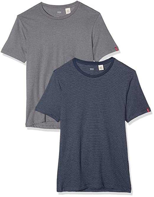 e901b4901 Levi s Slim 2 Pack Crew Tee - Camiseta para Hombre  Amazon.es  Ropa y  accesorios