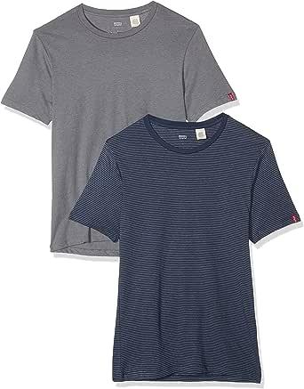 Levis Slim 2 Pack Crew Tee - Camiseta para Hombre: Amazon.es ...