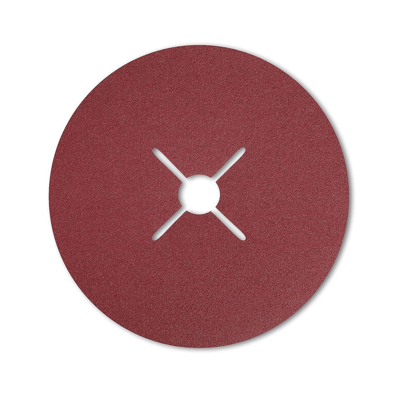 Starcke Lot de 25 disques abrasifs en fibre de verre 541 W 180 mm 4 fentes grain 24