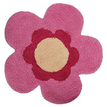 Kinderteppich blume  Mucky Fingers Kinder Mädchen Teppich / Vorleger in Blumen-Form ...