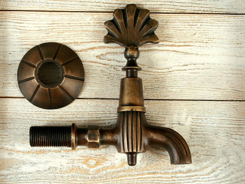 Ottoman Bathroom Fittings Faucet Antique Brass Turkish Wall Mount Garden Tap