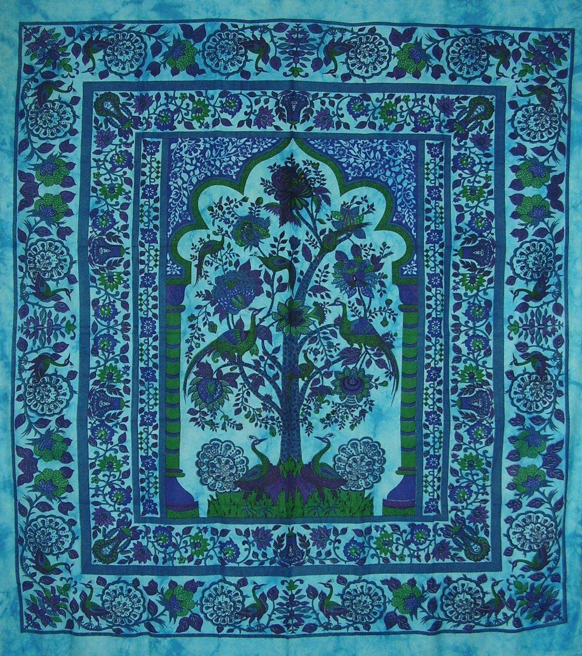 Tree of Lifeタペストリーコットンベッドスプレッド98