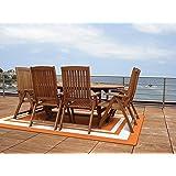 Garland Rug Borderline 5' x 7' Indoor/Outdoor Area Rug, Rectangle, Orange/White
