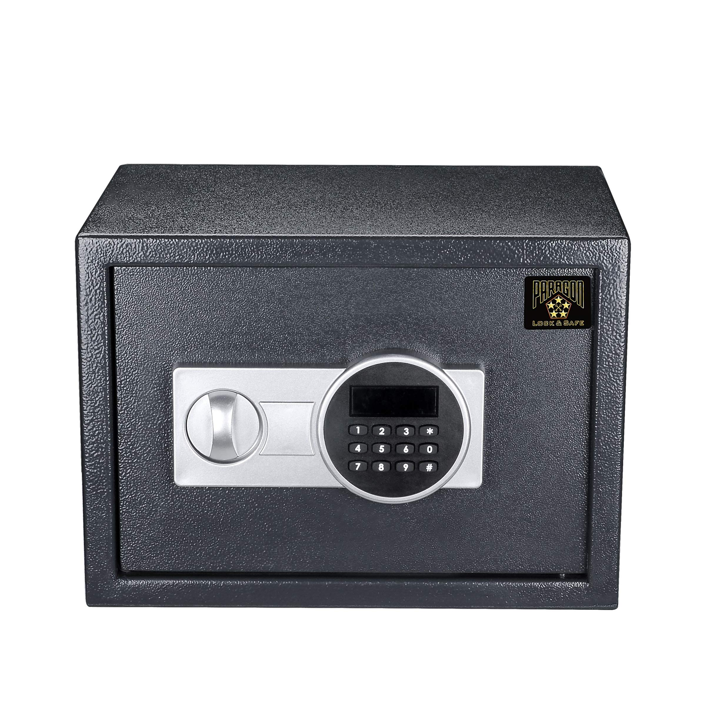 Paragon Digital Safe-Electronic Steel Safe with Keypad, 2 Manual Override Keys-Protect Money, Jewelry, Passports-For Home, Business or Travel by Paragon