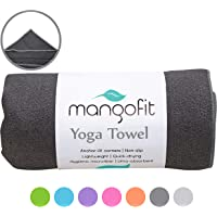 MangoFit Best Hot Yoga Towel with Anchor Fit Corners for Your Mat 72 x 24-100% Hygienic New Microfiber Fast Absorbent -Skidless, Non Slip, Yoga Towel with Pockets -Great for Pilates, Gym, and Beach!