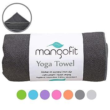 Amazon.com: MangoFit - Toalla de yoga caliente con esquinas ...