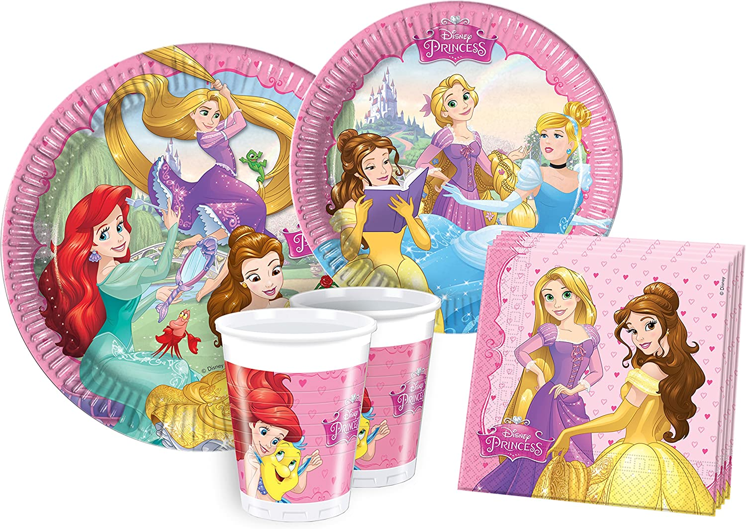 Ciao Kit Party Tabla Disney Princesa soñando (Princess Dreaming) S (8 persone) Multicolor: Amazon.es: Juguetes y juegos