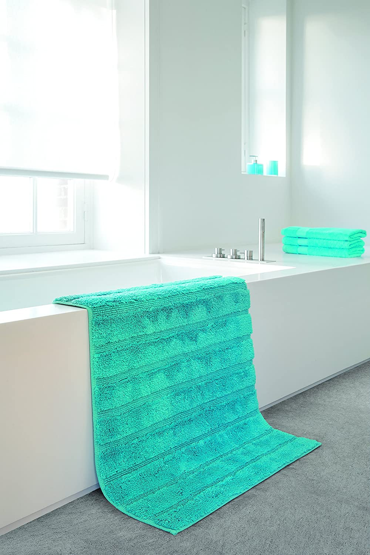 Fabriquer Meuble Salle De Bain Beton Cellulaire ~ Casilin California Tapis De Bain Coton Turquoise 120 X 70 Cm Amazon
