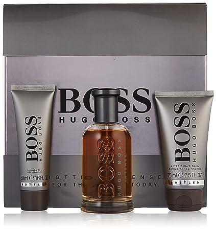 Hugo Boss Bottled Intense Lote Agua de Colonia Vaporizador, Bálsamo para Después del Afeitado y