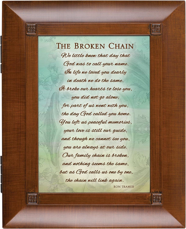 The Broken cadena de enlace de nuevo madera aflicción caja de ...