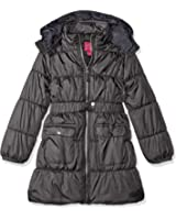 Pink Platinum Girls' Long Belted Puffer Jacket